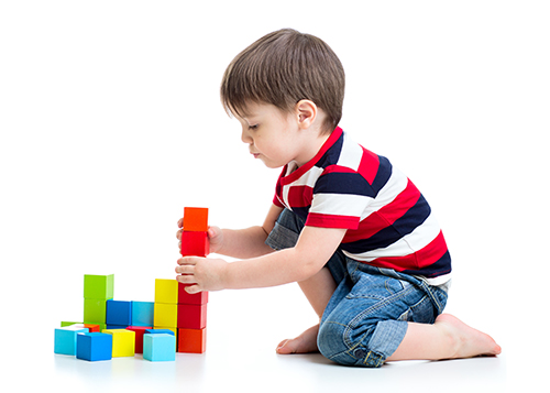 Learning Toys For Autism : Boy playing learning didactic toys didactic stock photo edit now